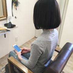 大人女子 暗髪 大人かわいい ナチュラル ヘアスタイルや髪型の写真・画像