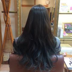 ロング ブリーチなし 外国人風 グラデーションカラー ヘアスタイルや髪型の写真・画像