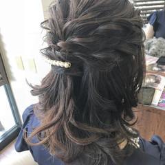 ヘアアレンジ ミディアム 結婚式 謝恩会 ヘアスタイルや髪型の写真・画像