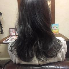 グレージュ 黒髪 ニュアンス アッシュ ヘアスタイルや髪型の写真・画像
