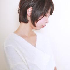 デート ボブ 大人女子 ショート ヘアスタイルや髪型の写真・画像