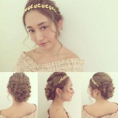 ヘアアレンジ 大人かわいい ゆるふわ 結婚式 ヘアスタイルや髪型の写真・画像