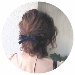 ヘアアレンジ ボブ 編み込み パーティ ヘアスタイルや髪型の写真・画像