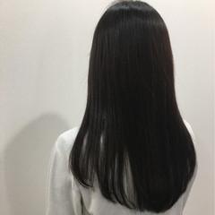 ナチュラル ワンカール ストレート ロング ヘアスタイルや髪型の写真・画像