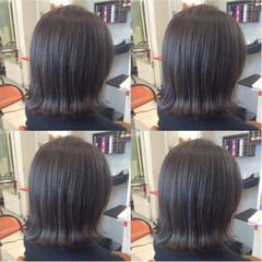 アッシュ 暗髪 ブルージュ ボブ ヘアスタイルや髪型の写真・画像