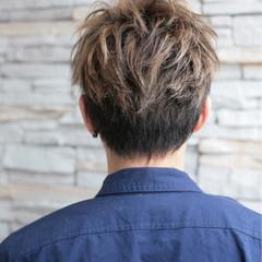 ハイライト 坊主 外国人風カラー ストリート ヘアスタイルや髪型の写真・画像