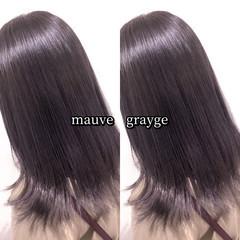 グラデーションカラー モーブ グレージュ ヘアカラー ヘアスタイルや髪型の写真・画像
