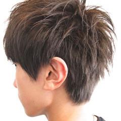 アッシュ 爽やか 暗髪 モード ヘアスタイルや髪型の写真・画像
