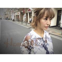 ハイライト ショート 簡単ヘアアレンジ 外国人風 ヘアスタイルや髪型の写真・画像