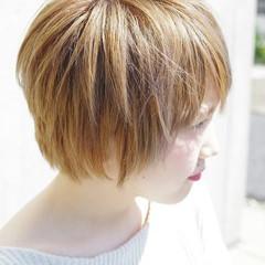 ハイトーン ショートボブ 外国人風 ショート ヘアスタイルや髪型の写真・画像
