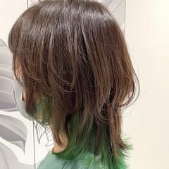 モード ウルフカット 似合わせカット レイヤースタイル ヘアスタイルや髪型の写真・画像