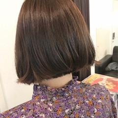 ボブ ミルクティー ベージュ ナチュラル ヘアスタイルや髪型の写真・画像