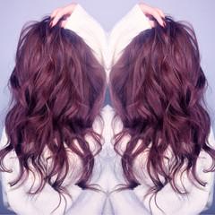 外国人風 ガーリー フェミニン セミロング ヘアスタイルや髪型の写真・画像