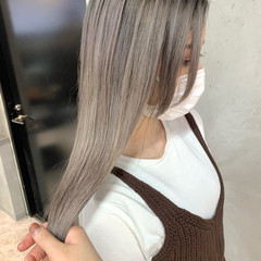 バレイヤージュ ロング モード 3Dハイライト ヘアスタイルや髪型の写真・画像