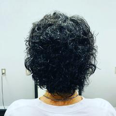 ミディアム ストリート パーマ スパイラルパーマ ヘアスタイルや髪型の写真・画像