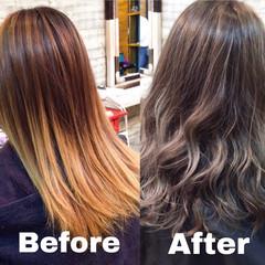 ヘアアレンジ ナチュラル グレージュ ロング ヘアスタイルや髪型の写真・画像