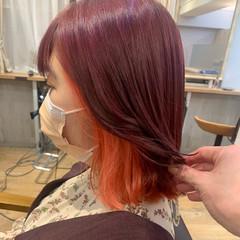モテ髪 ミディアム アンニュイほつれヘア 切りっぱなしボブ ヘアスタイルや髪型の写真・画像