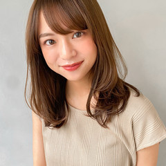 韓国 レイヤーカット 大人かわいい 外国人風 ヘアスタイルや髪型の写真・画像