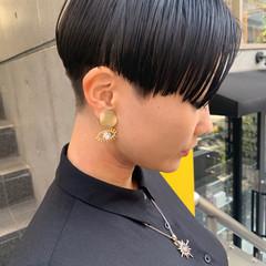 ミニボブ モード ショートヘア ショート ヘアスタイルや髪型の写真・画像