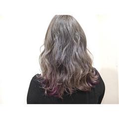 グレージュ ミルクティー ストリート インナーカラー ヘアスタイルや髪型の写真・画像