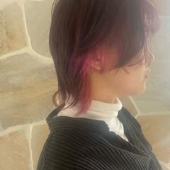 インナーカラー ハイトーンカラー ストリート ショート ヘアスタイルや髪型の写真・画像