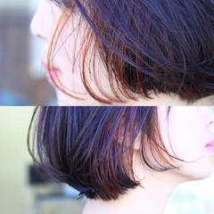 モード ボブ ダブルカラー 秋 ヘアスタイルや髪型の写真・画像