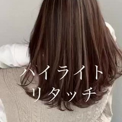 ハイライト ナチュラル 大人ハイライト 地毛ハイライト ヘアスタイルや髪型の写真・画像