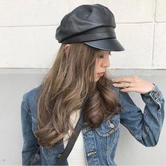 透明感 ハイライト 秋 エレガント ヘアスタイルや髪型の写真・画像