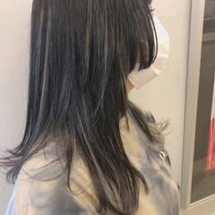 ナチュラル インナーカラーグレージュ ダブルカラー ハイライト ヘアスタイルや髪型の写真・画像