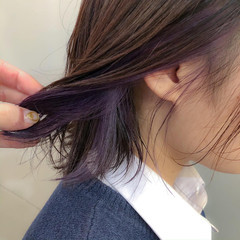 #インナーカラー インナーカラー ナチュラル インナーカラーグレー ヘアスタイルや髪型の写真・画像