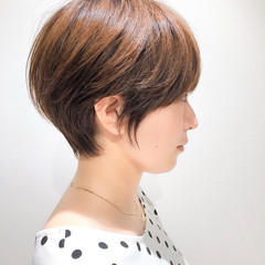 切りっぱなしボブ ショート ショートヘア ベリーショート ヘアスタイルや髪型の写真・画像