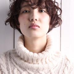 ゆるふわ 簡単 ショート ナチュラル ヘアスタイルや髪型の写真・画像