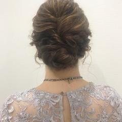 結婚式 ヘアアレンジ ヘアセット エレガント ヘアスタイルや髪型の写真・画像