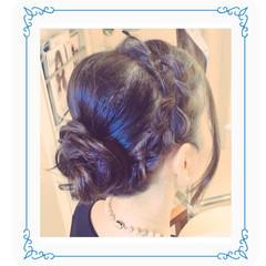 成人式 編み込み 結婚式 簡単ヘアアレンジ ヘアスタイルや髪型の写真・画像