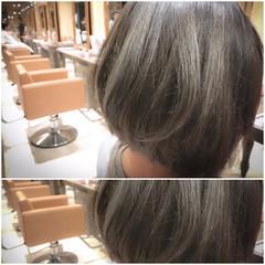 イルミナカラー ショート ボブ 外国人風 ヘアスタイルや髪型の写真・画像