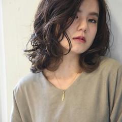インナーカラー ミディアム 外国人風 透明感 ヘアスタイルや髪型の写真・画像