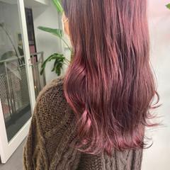 ベリーピンク ピンク 韓国ヘア ピンクアッシュ ヘアスタイルや髪型の写真・画像
