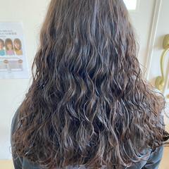 ロング キッズカット ワンレングス ガーリー ヘアスタイルや髪型の写真・画像