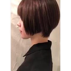 ナチュラル ショートボブ ハイライト ショート ヘアスタイルや髪型の写真・画像