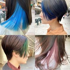 ブリーチ ブリーチカラー インナーカラー ホワイトブリーチ ヘアスタイルや髪型の写真・画像