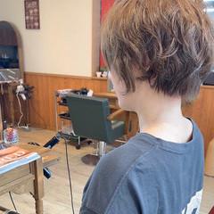 ミニボブ 切りっぱなしボブ ショート ショートヘア ヘアスタイルや髪型の写真・画像