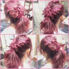 ゆるふわ フェミニン ミディアム グラデーションカラー ヘアスタイルや髪型の写真・画像