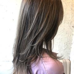 ダブルカラー ストリート ハイライト ロング ヘアスタイルや髪型の写真・画像