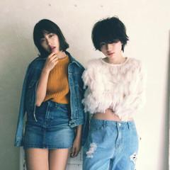 ショート 秋 ボーイッシュ 外国人風 ヘアスタイルや髪型の写真・画像