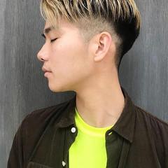 メンズヘア メンズカジュアル ストリート センターパート ヘアスタイルや髪型の写真・画像