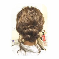 セミロング フェミニン 外国人風 ヘアアレンジ ヘアスタイルや髪型の写真・画像