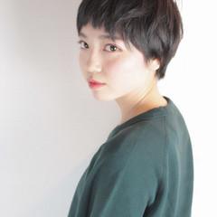 黒髪 似合わせ 小顔 デート ヘアスタイルや髪型の写真・画像