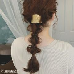 ヘアアレンジ グラデーションカラー 大人かわいい エレガント ヘアスタイルや髪型の写真・画像