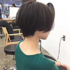 小顔ショート ショート ナチュラル ショートヘア ヘアスタイルや髪型の写真・画像