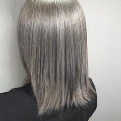 グラデーションカラー ストリート アウトドア ミディアム ヘアスタイルや髪型の写真・画像